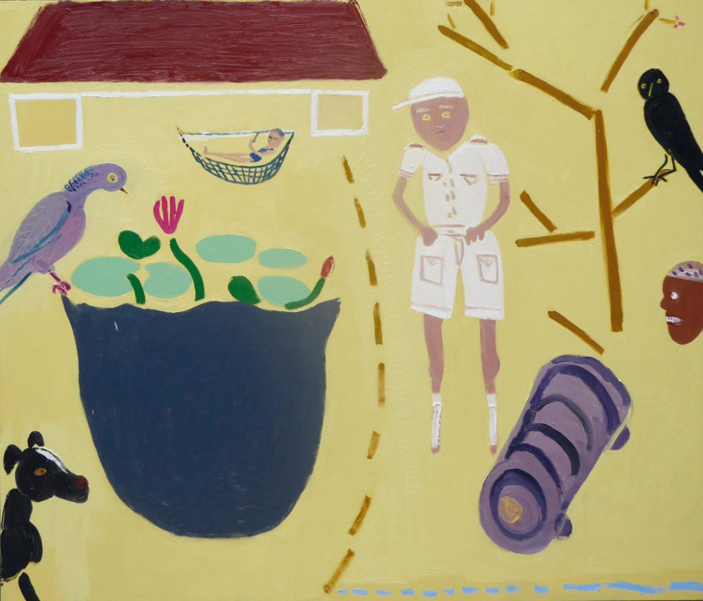Faithlyn, Trevor and Trixie at the Great House – painting by Georgia Hayes