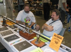 Alan (Right) shows his engine at the 2004 Men, Metal and Machines show in Visalia.