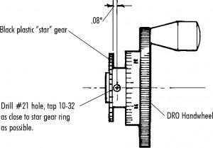 FIGURE 2—Location of new hole is as close to the star gear as possible.